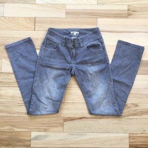 CAbi Grey Slim Straight Leg Denim Jeans Lou Lou